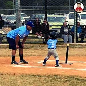 Baseball season, bbq and baseball